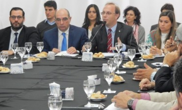 Saglione analizó el Sistema Tributario Provincial con representantes de sectores productivos