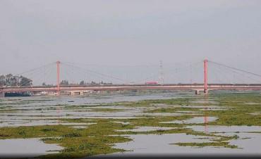 El Río Paraná creció casi 1,5 mts y queda a 74 cm del nivel de alerta