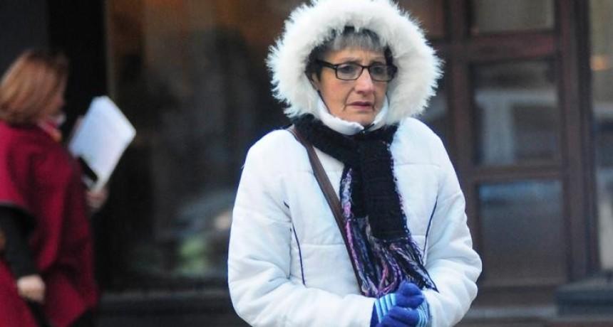 Temperaturas bajo cero en el centro del país por irrupción de
