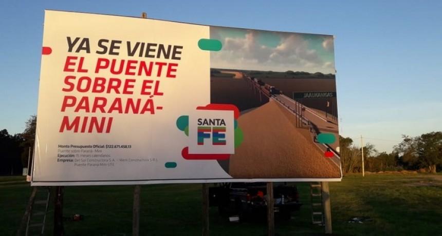 """El Paraná Miní cada vez mas cerca de tener el puente """"San Vicente"""""""